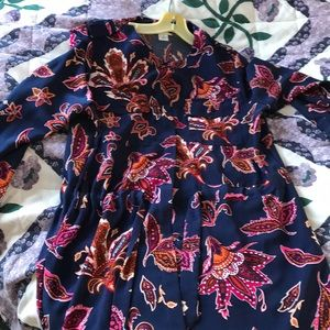 Printed style long sleeves dress